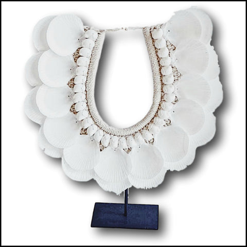 Tribal Necklace - White Clam Shell