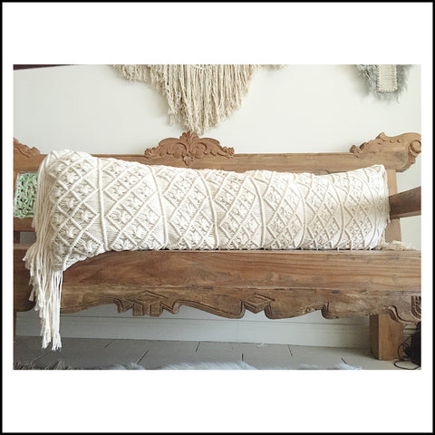 Macrame Body Cushion/Bolster