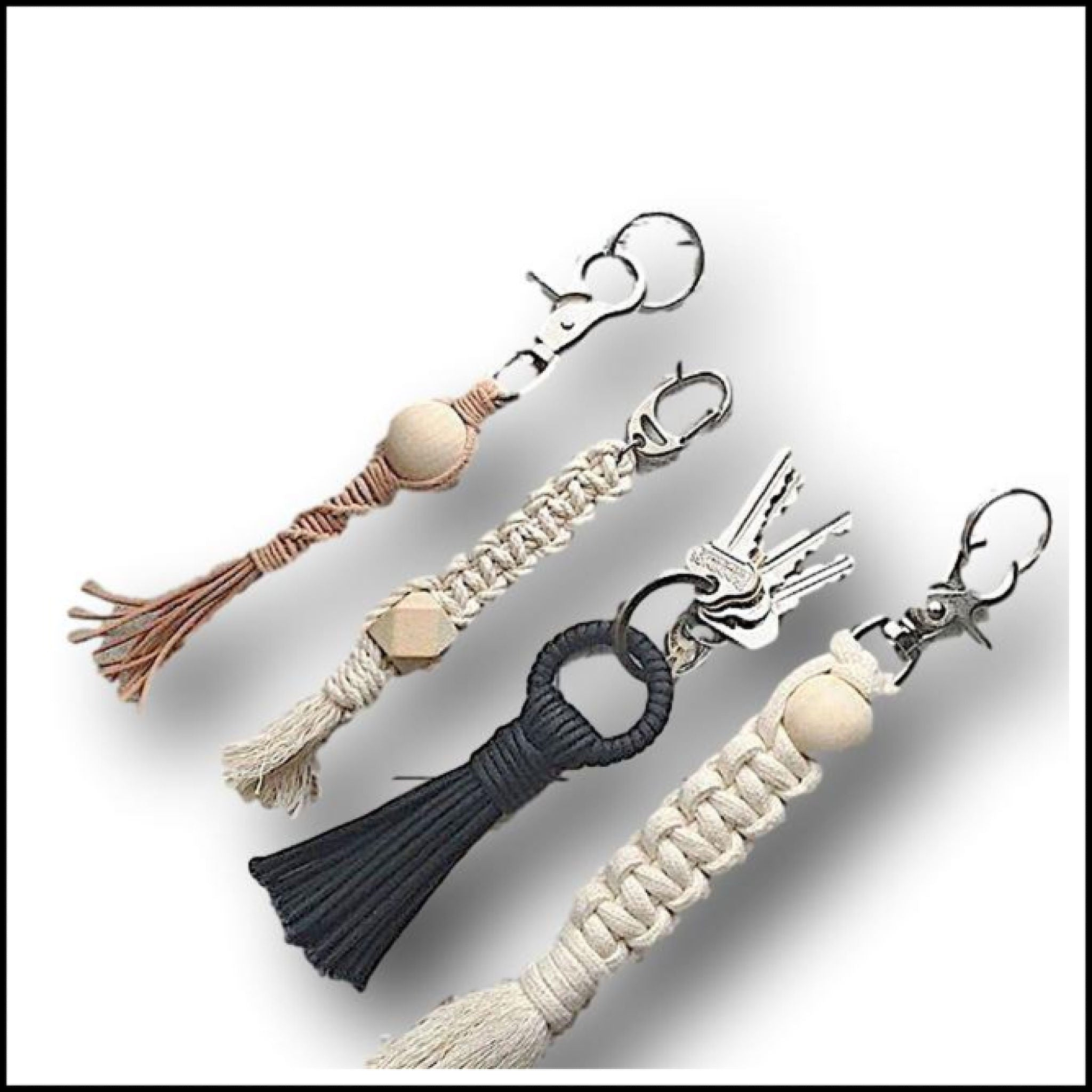 Macrame Key Ring or Bag Charm made bespoke to your order any design