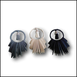 Tribal Necklace - Cuttlefish Tassel