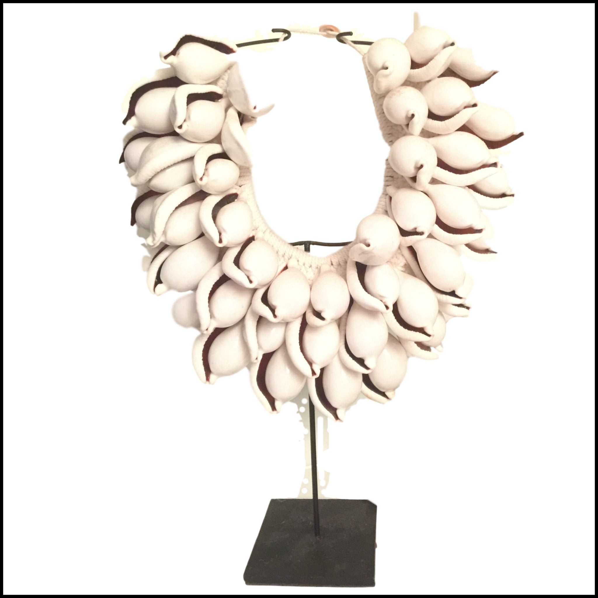 Tribal Necklace White Cowrie Shell