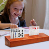 wooden playing card holder - children