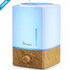 1500ml Large Aroma Essential Oil Diffuser Humidifier - 22 Hours Continuous Output, Super Quiet, Wood Grain