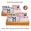Exqline Wood Playing Card Holders Set of 2