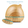 400ml Ultrasonic Aroma Essential Oil Diffuser - Large Cool Mist Diffuser for Home Office (Light Wood Grain)