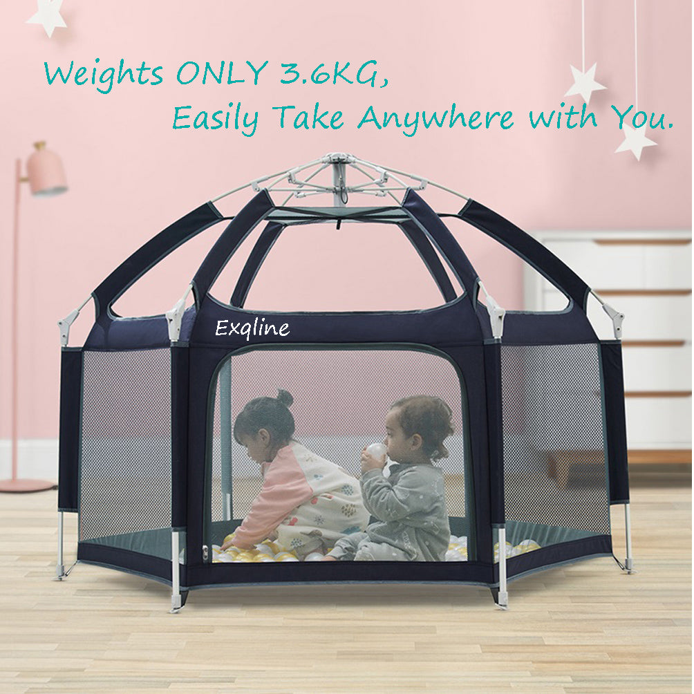 Exqline Pop N Go Baby Playpen Foldable Portable Pop N Play