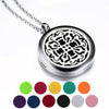 Aromatherapy Essential Oil Diffuser Necklace with Pendant, Gift Box, Old Cross Pattern