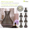 Classical 400ml Essential Oil Diffuser Large Room, Elegant Vase Shape with Wood Grain