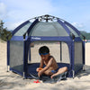 Exqline Full Bugs-Proof  Playpen - Upgraded 2nd Version - Navy Blue