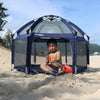 Exqline Pop N Go Full Bugs-Proof  Playpen - Upgraded 2nd Version - Navy Blue