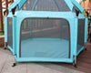 Exqline Pop N Go Full Bugs-Proof  Playpen - Upgraded 2nd Version - Turquoise