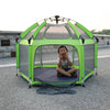 Exqline Pop N Go Full Bugs-Proof  Playpen - Upgraded 2nd Version - Green