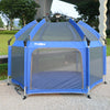 Exqline Pop N Go Full Bugs-Proof  Playpen - Upgraded 2nd Version - Royal Blue