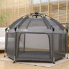 Exqline Full Bugs-Proof Playpen - Upgraded 2nd Version - Grey