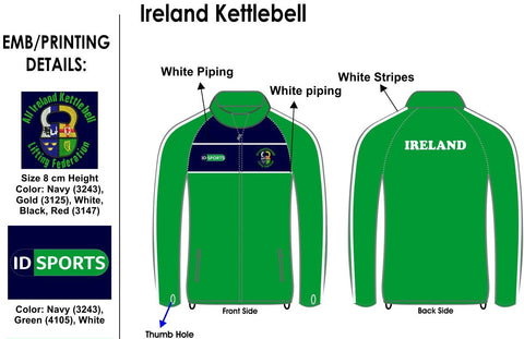 Ireland Kettlebell Full Zip Top
