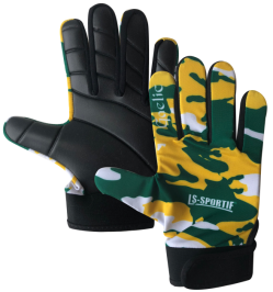 LS Sportif Camo GAA gaelic football glove green/gold/white