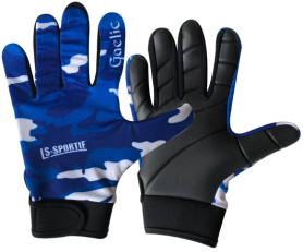 LS Sportif Camo GAA gaelic football glove navy/blue/white