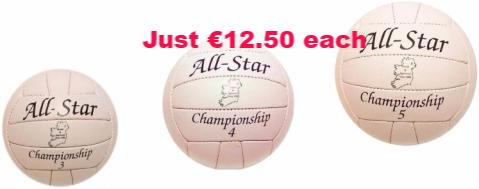 Club offer for 6 x All Star gaa training football
