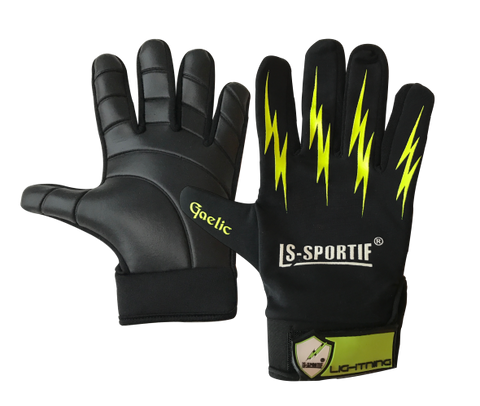 LS Sportif Lightning Football Glove black/lime