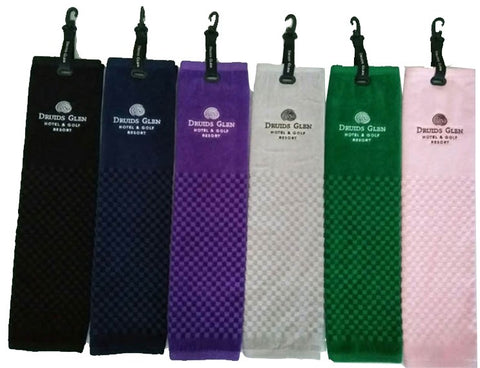 Golf towel with club crest