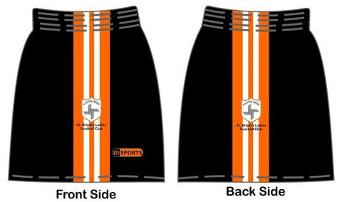 St Brigid Club shorts black/orange/white