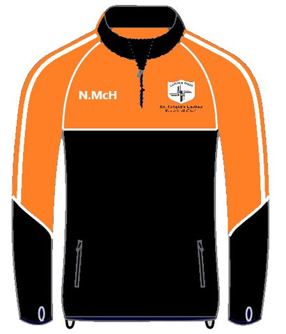 St Brigids Club Half zip top
