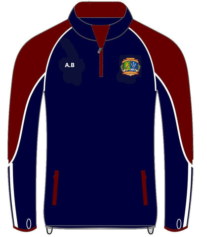 Broadford Hurling Club half zip top