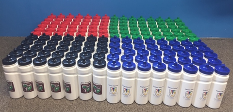 Water bottle 750ml with crest and childs name promotion for clubs and schools