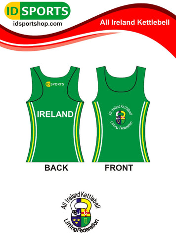 Ireland Kettlebell ladies cotton sleeveless singlet top