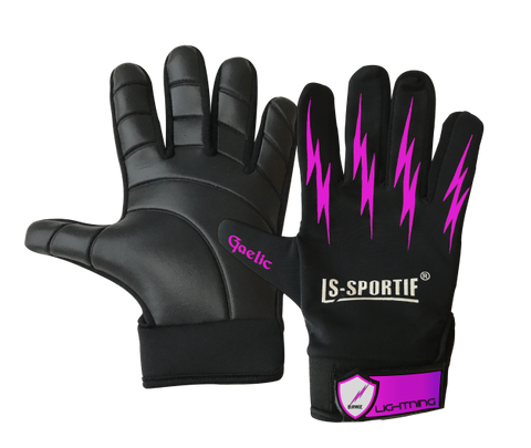 LS Sportif Lightning gaa Football Glove black/Pink