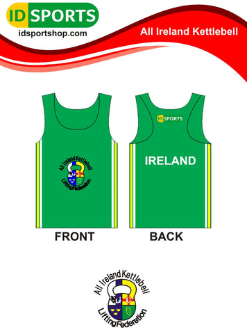 Ireland Kettlebell mens cotton sleeveless singlet top