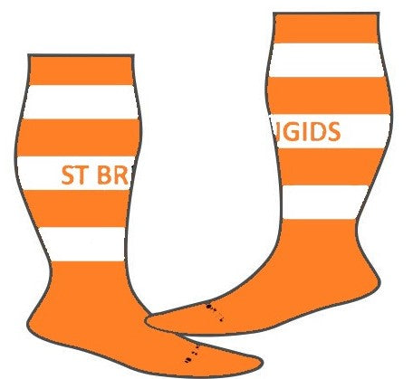 St Brigids Club socks stripes
