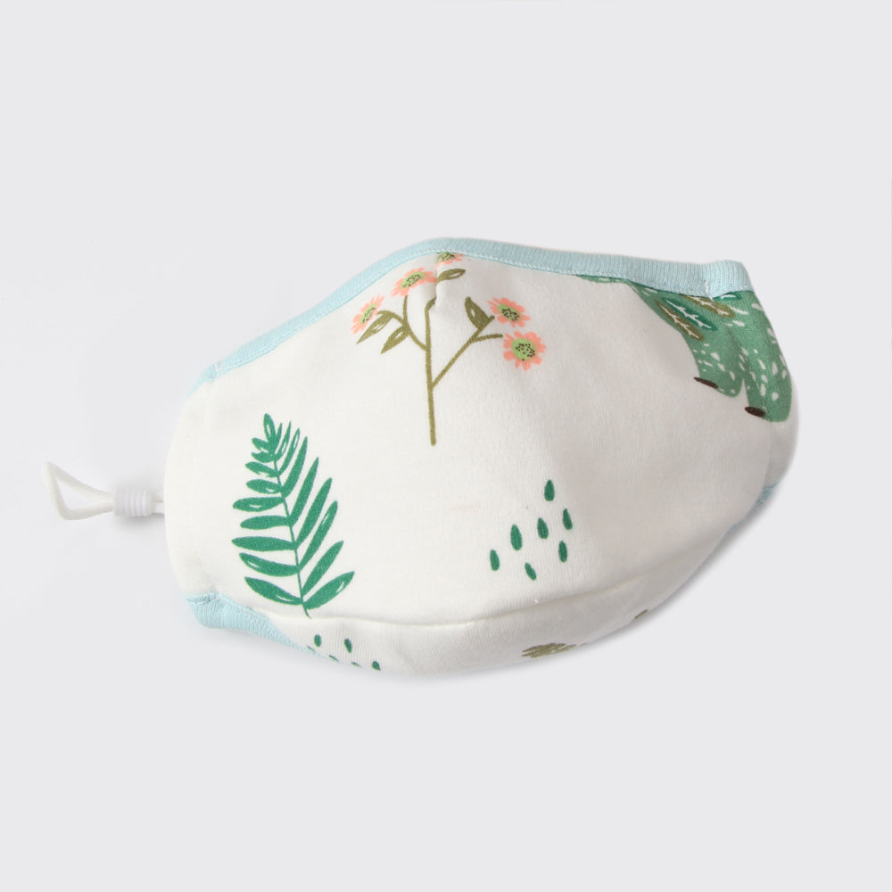 Kid's Reusable Cotton Face Mask with filter pocket - Forest