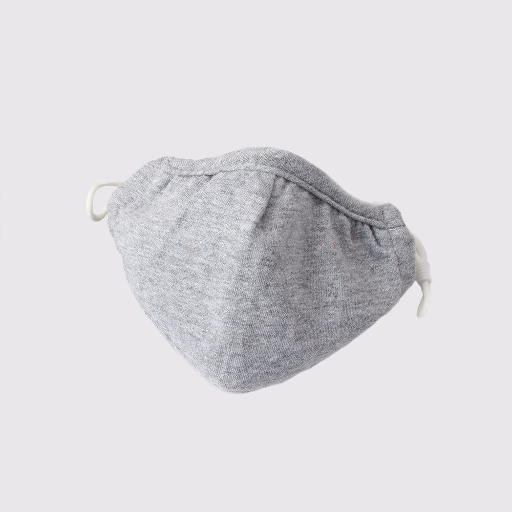 Adult Reusable Cotton Face Mask with filter pocket - Grey