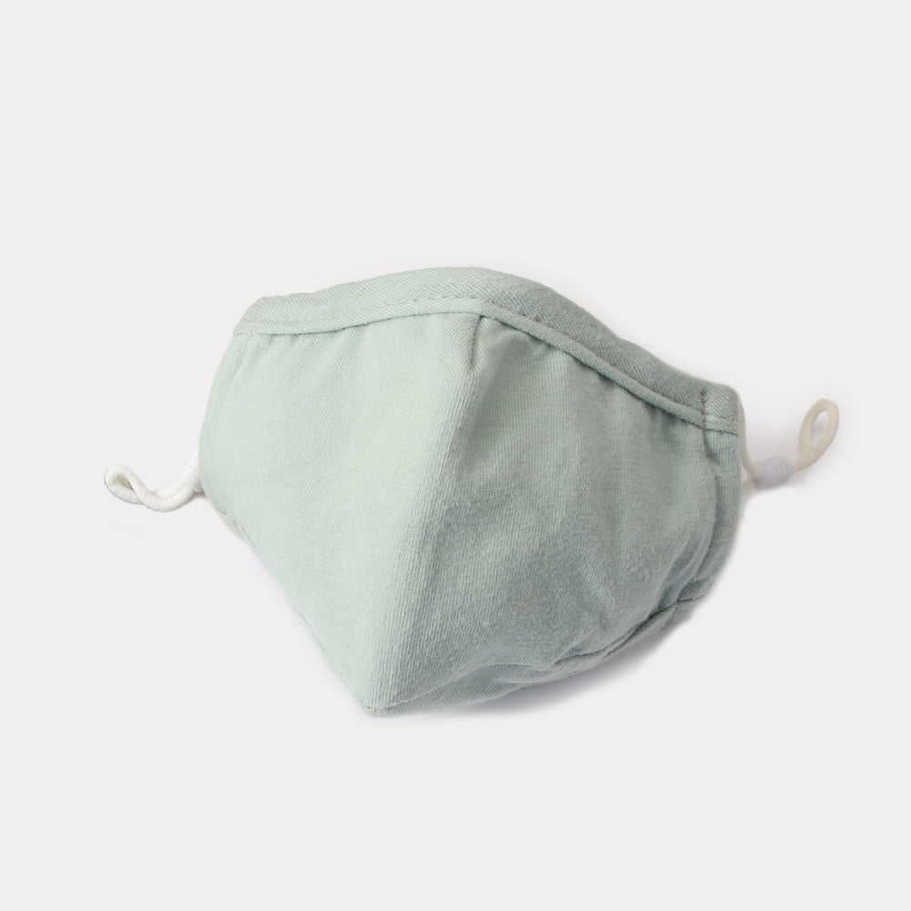 Adult Reusable Cotton Face Mask with filter pocket - Sage
