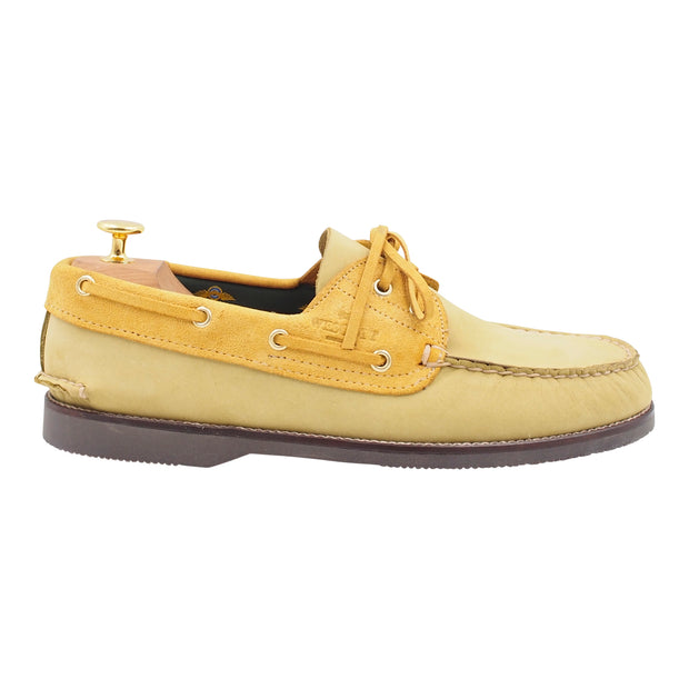 Mens Light Green Boat Shoes