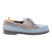 Mens Light Blue Boat Shoes