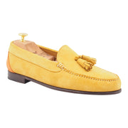 Mens Yellow Suede Tassel Loafers