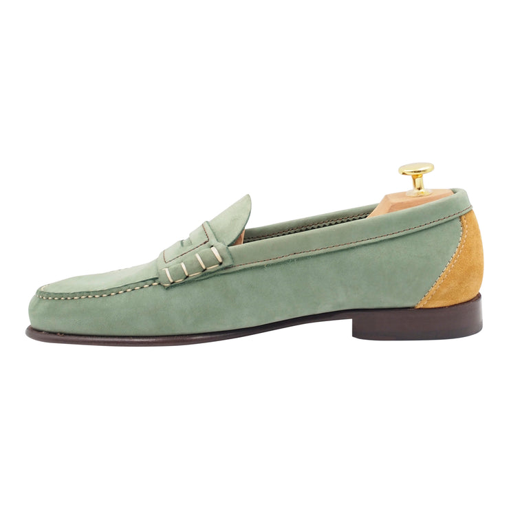 Mens Green Loafers