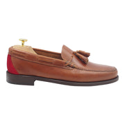 Mens Tanned Leather Tassel Loafers
