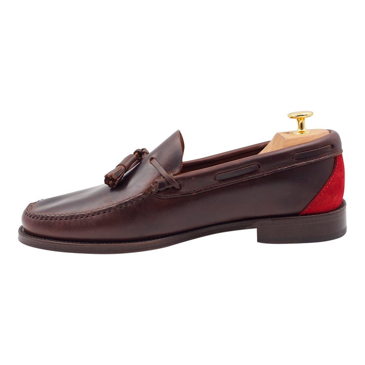 Mens Brown Leather Tassel Loafers