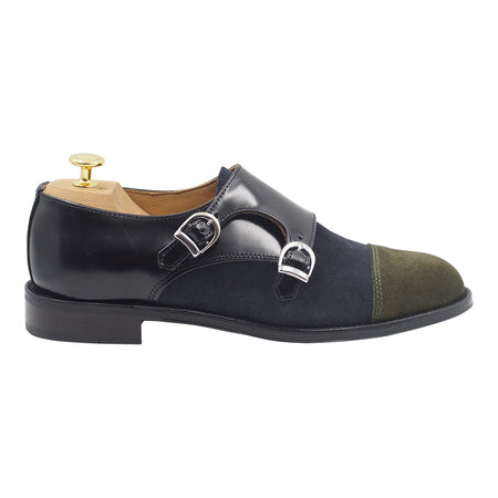 Mens Suede Buckle Shoes