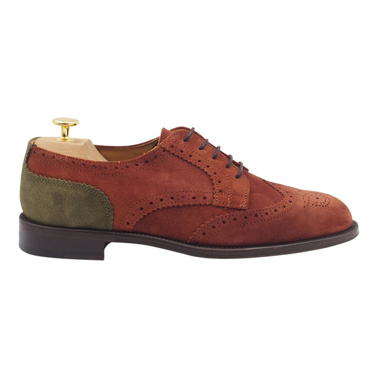 Men Light Brown Suede Oxford Shoes