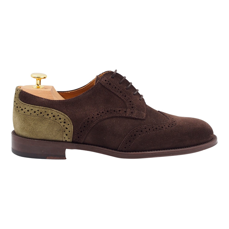 Men Brown Suede Oxford Shoes