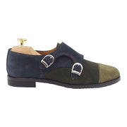 Womens Green Suede Buckle Shoes
