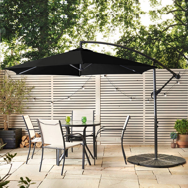 At Home With HomePlus Blog | Barbados Banana Cantilever Parasol | Grey