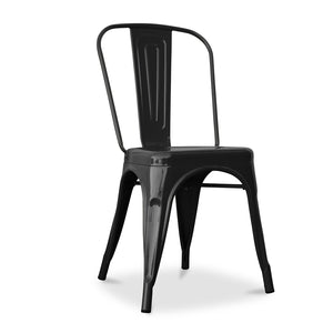 Tolix Cafe Style Chair (Black) - HomePlus Furniture - HomePlus Furniture