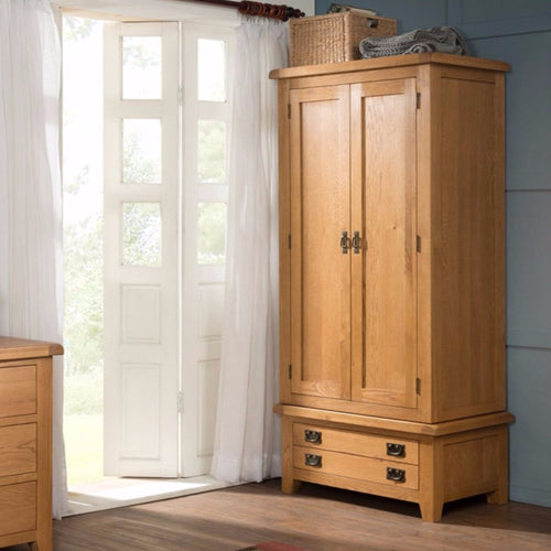 Cambridge Oak Double Wardrobe