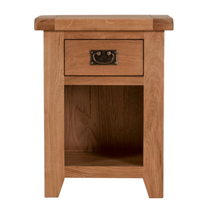 Cambridge Oak Small 1 Drawer Bedside - HomePlus Furniture