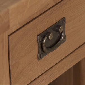 Cambridge Oak 3 Drawer Bedside - Cambridge - HomePlus Furniture